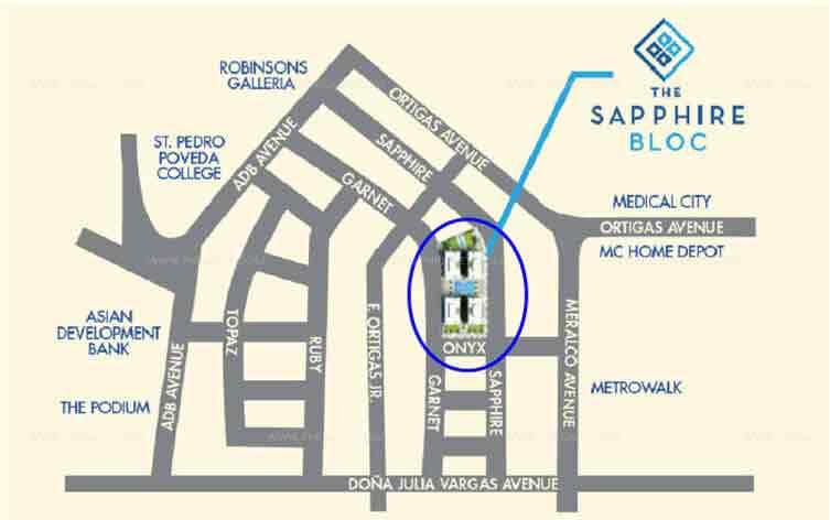 The Sapphire Bloc Location