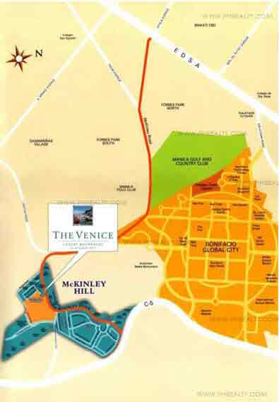 The Venice Luxury Residences Location