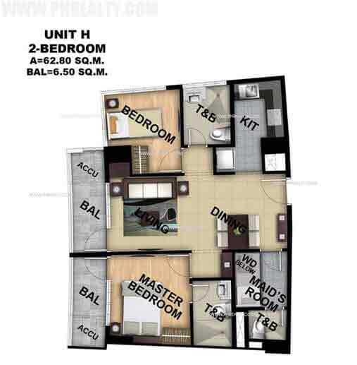 Unit H 2 Bedroom