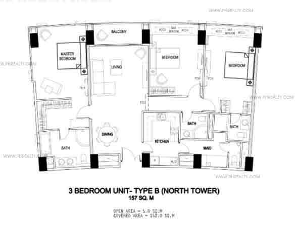 3 bedroom unit - Type B