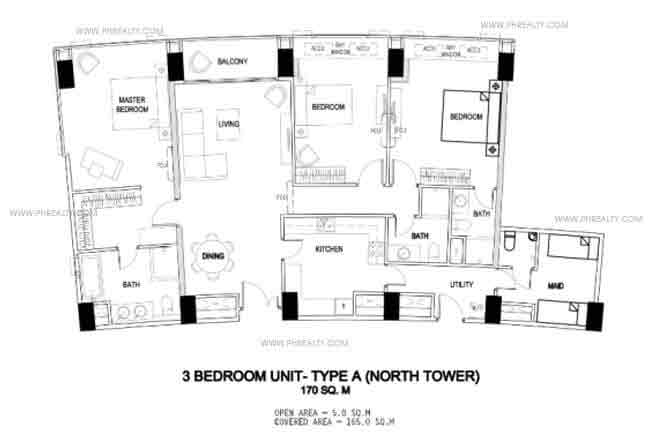 3 bedroom unit - Type A
