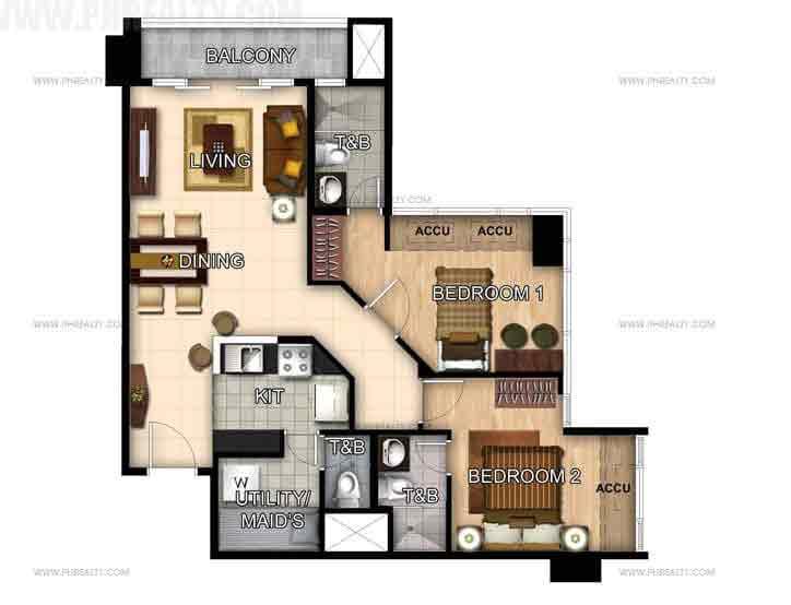 Unit 47th-48th Floor 2- Bedroom