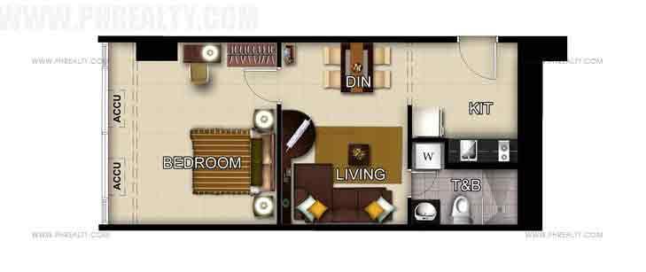 Unit 47th-48th Floor 1- Bedroom
