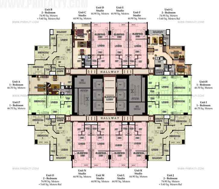47th-48th Typical Floor Plan