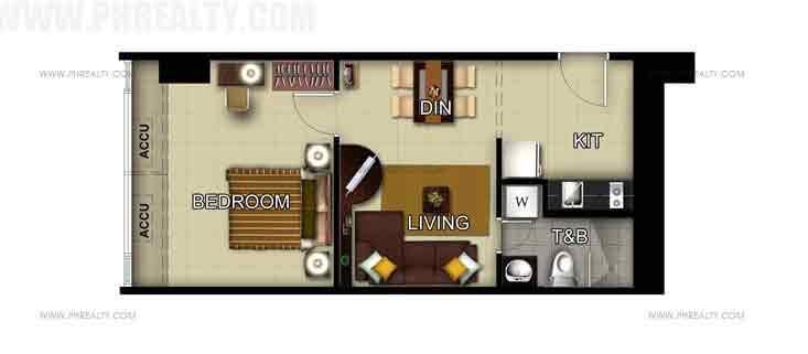 Unit 49th Floor -1 Bedroom