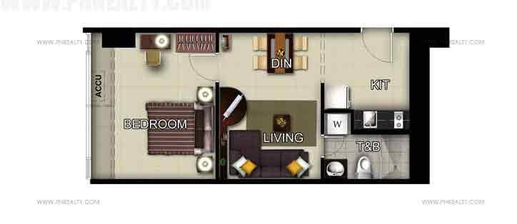 Unit 50th Floor - 1 Bedroom