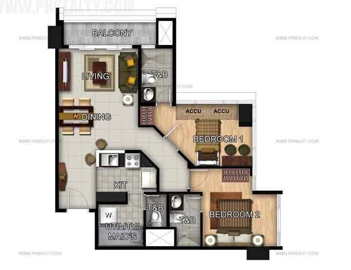 Unit 50th Floor - 2 Bedroom