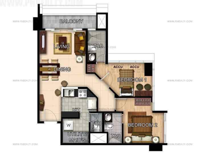 Unit 51st Floor- 2 Bedroom