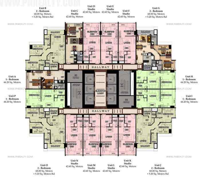 51st Typical Floor Plan