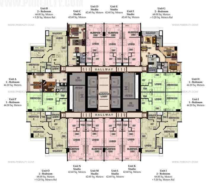 51st Typical Floor Plan