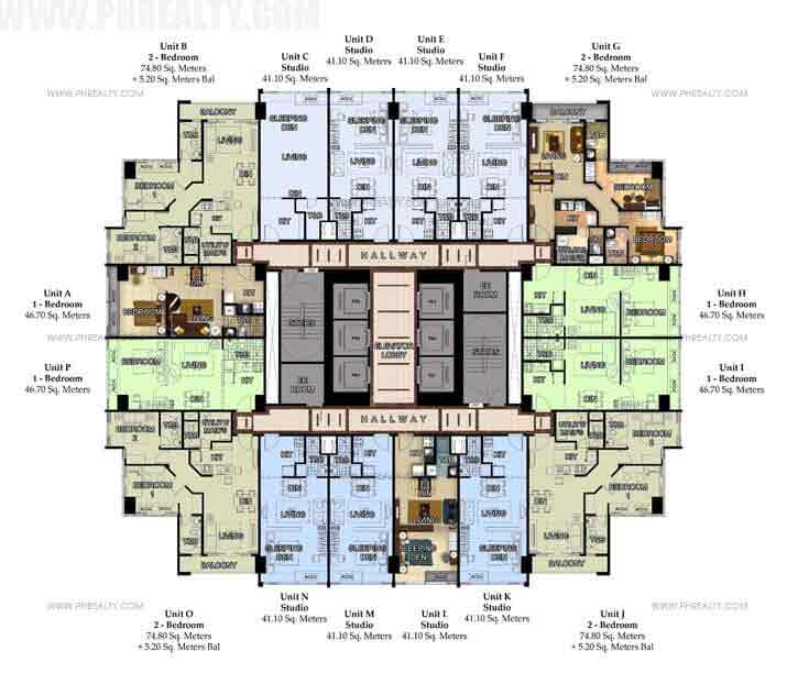 8F-46F Typical Floor Plan