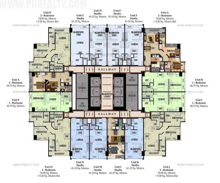 8F-46F Typical Floor Plan