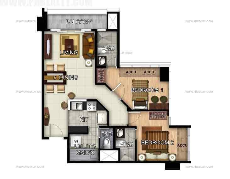 Unit 49th Floor 2- Bedroom