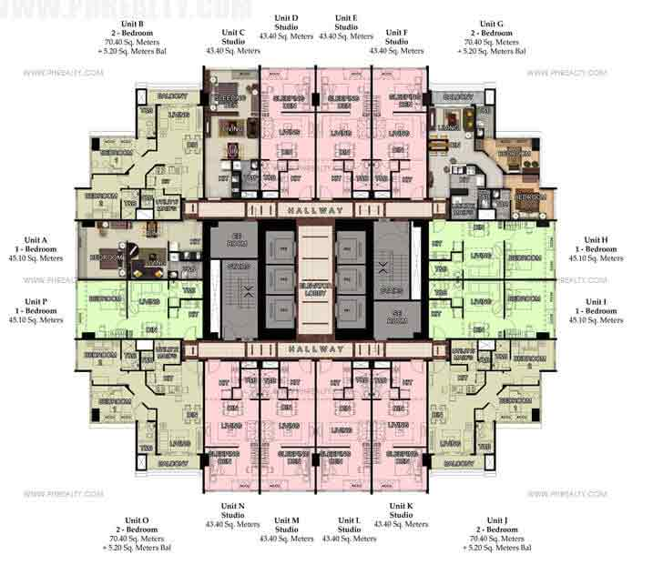 50th Typical Floor Plan