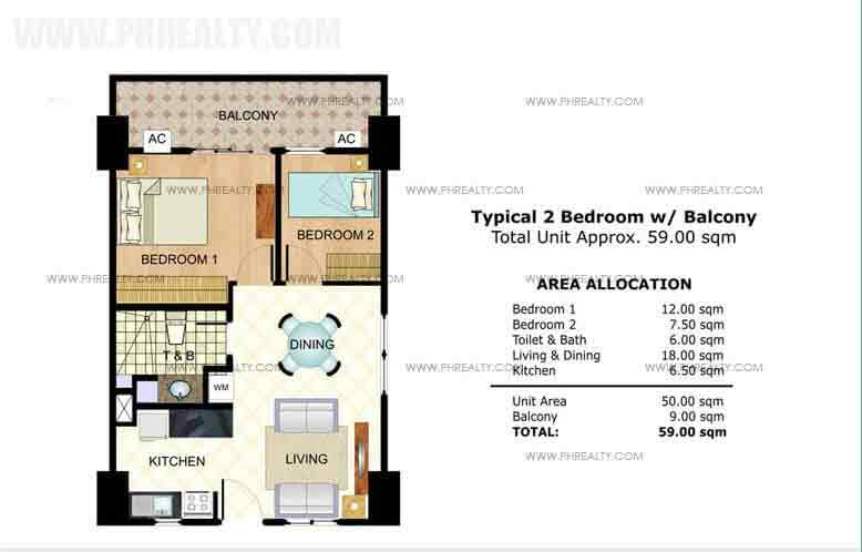 Typical 2 Bedroom Unit