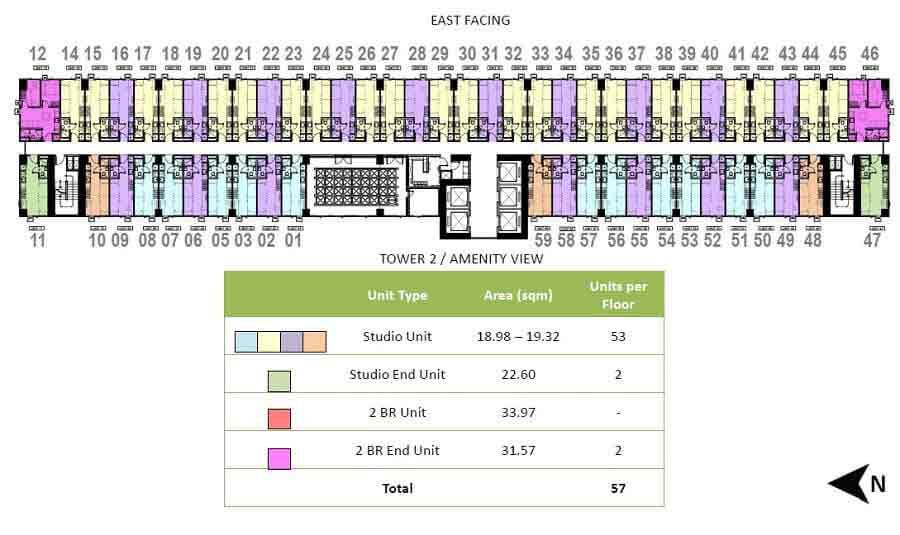 Tower 1 - 22nd Floor Plan