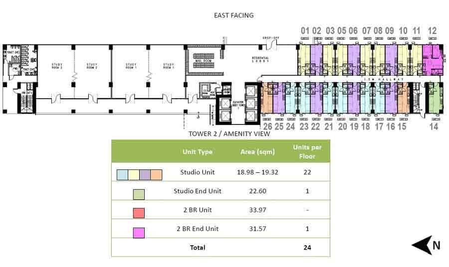 Tower 1 - 2nd Floor Plan