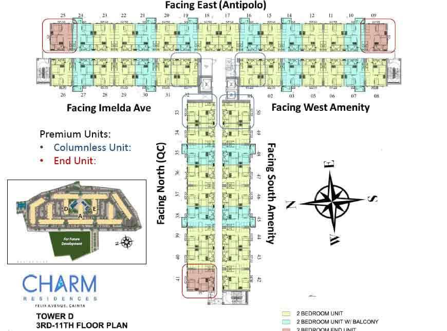 Tower D - 3rd - 11th Floor Plan