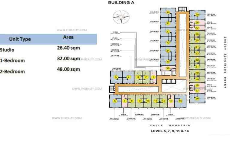 Tower 1 Floor Plan