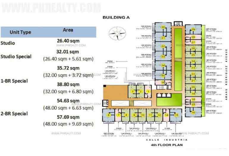 Tower 1 Floor Plan (Level 4)