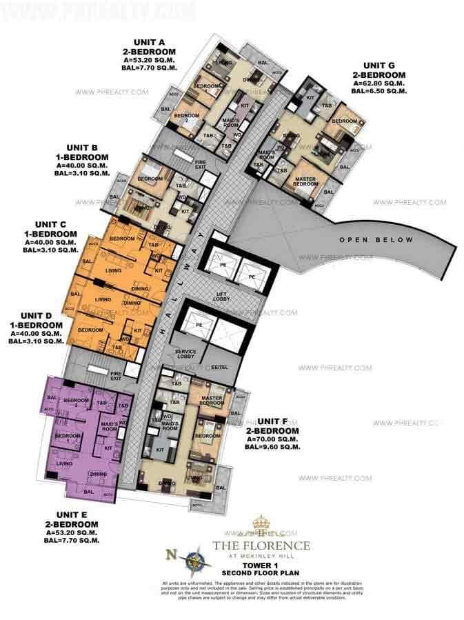 Tower 1 Second Foor Plan