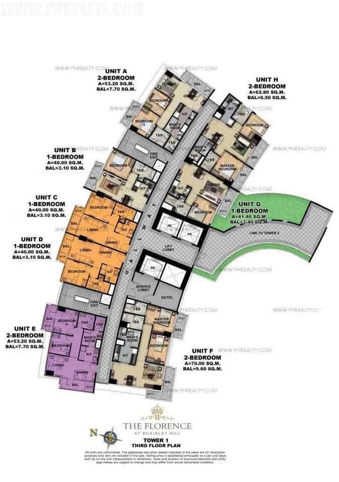 Tower 1 Third Floor Plan