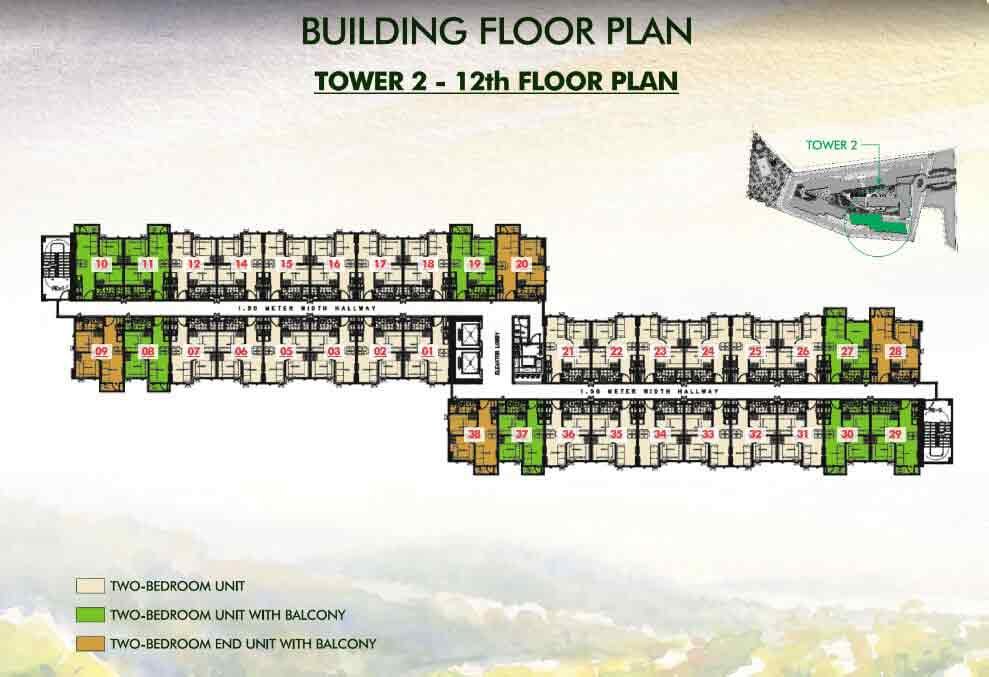 Tower 2 - 12th Floor Plan