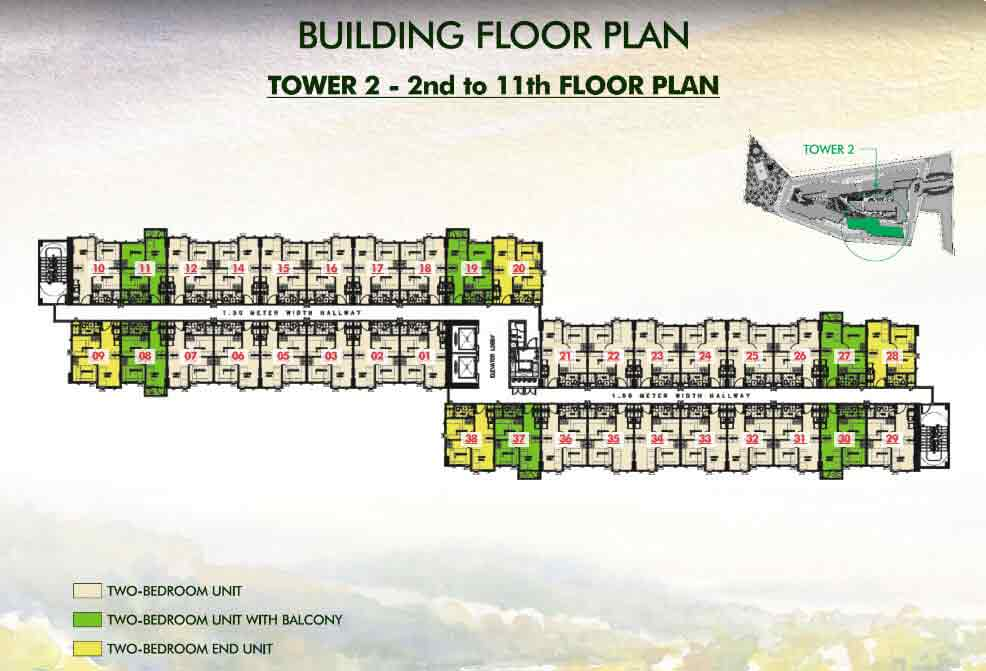 Tower 2 - 2nd to 11th Floor Plan