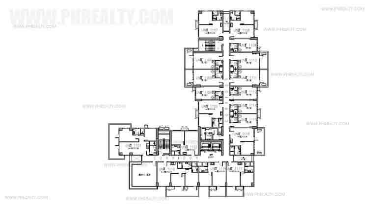 Tower 2 Floor Plan with Amenity Deck