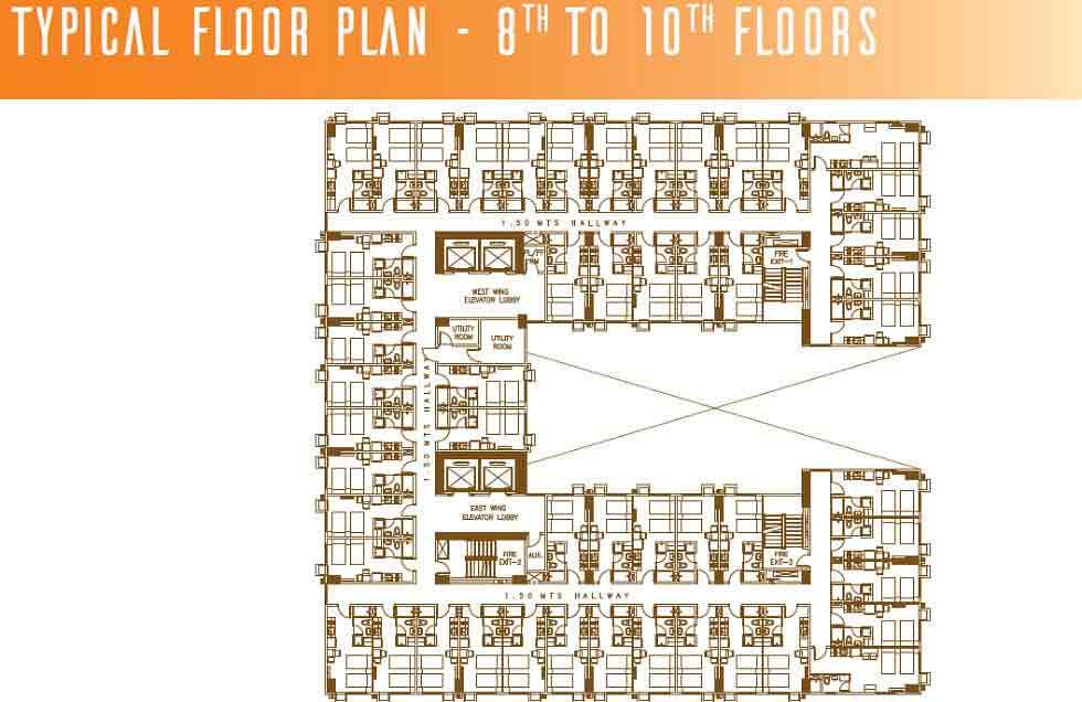 Typical Floor Plan - 8th - 10th Floors