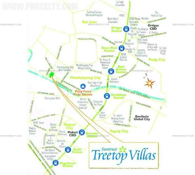 Treetop Villas Location