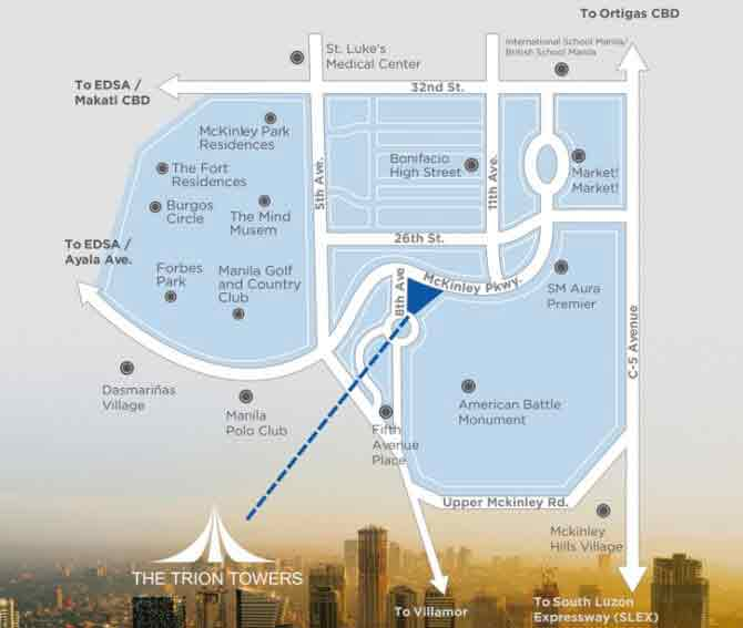 The Trion Towers Location