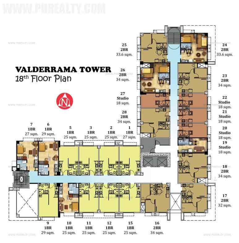 18th Floor Plan