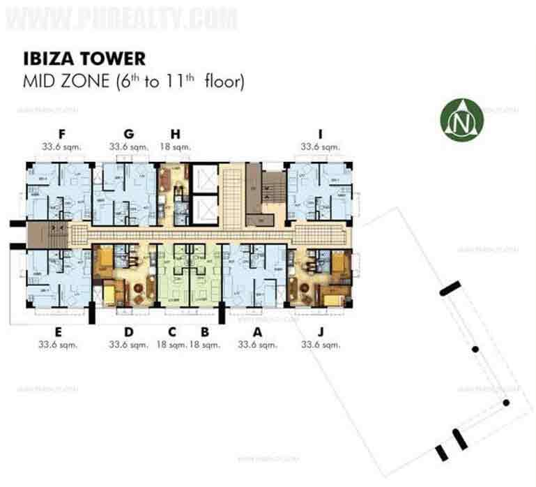 6th to 11th Floor Plan