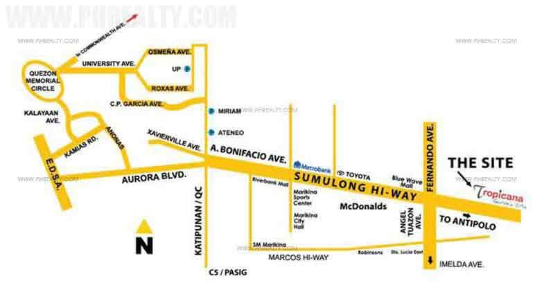 Tropincana Garden City Location
