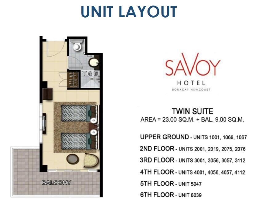 Twin Suite Unit