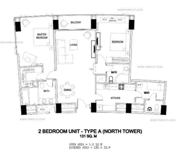 2 bedroom unit - Type A
