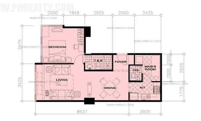 33rd Floor Units - 1 Bedroom