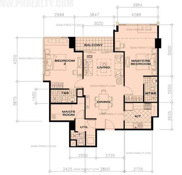 33rd Floor Units - 2 Bedroom