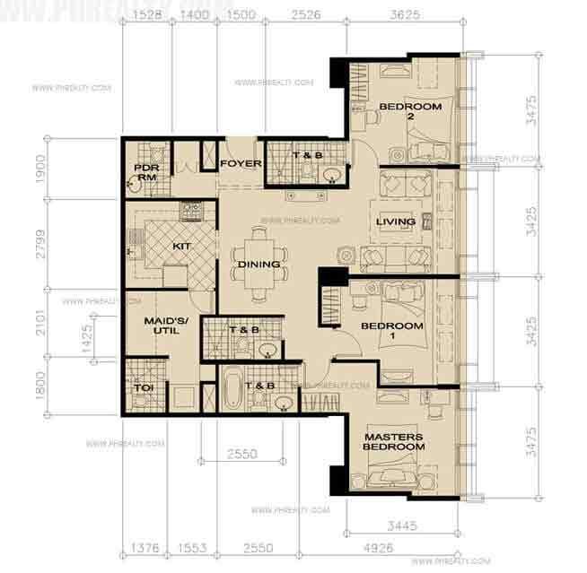 35th Floor-3 Bedroom
