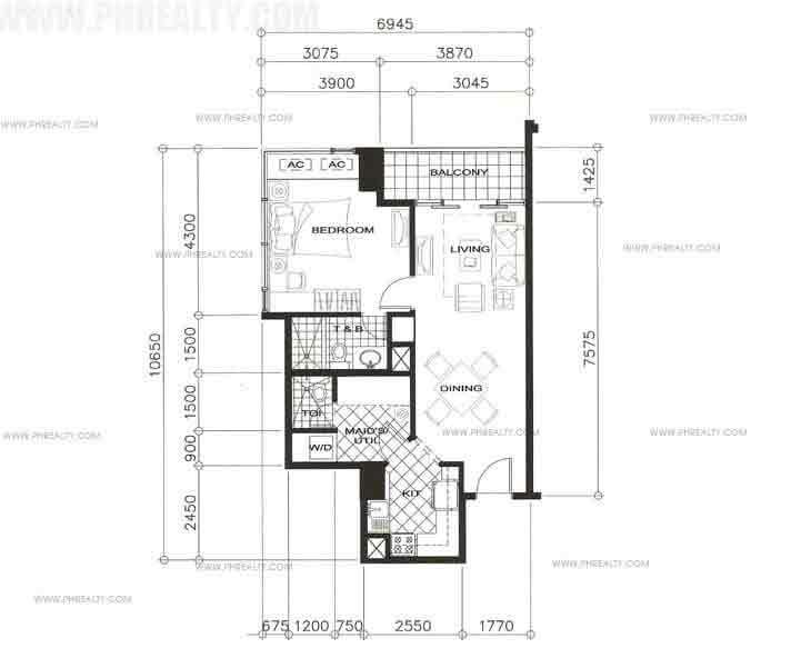 Units 1 Bedroom + Balcony