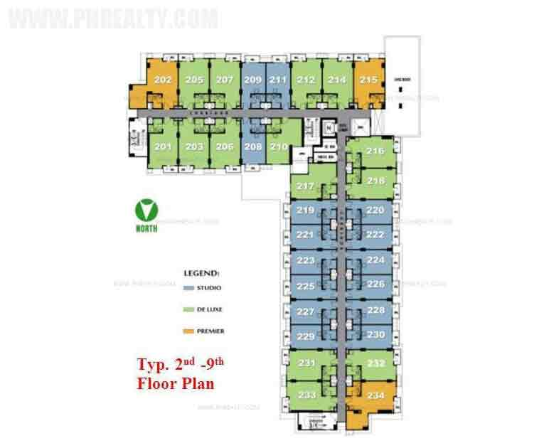 Typical 2nd to 9th Floor Plan