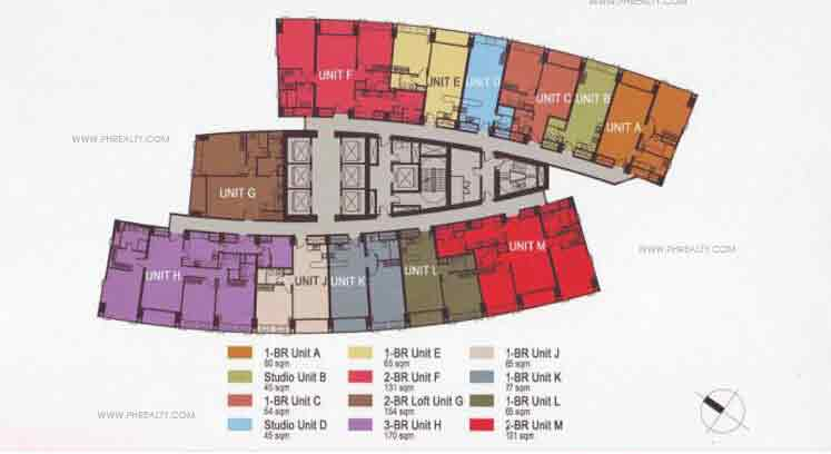 Typical Floor Plan-11th to 32nd North Tower