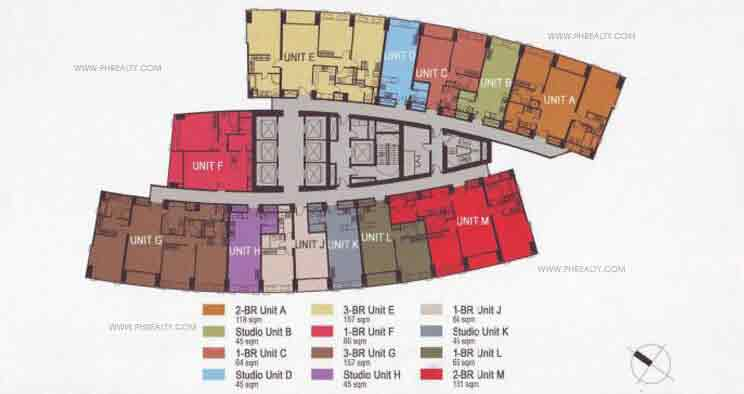 Typical Floor Plan-42nd to 61st North Tower