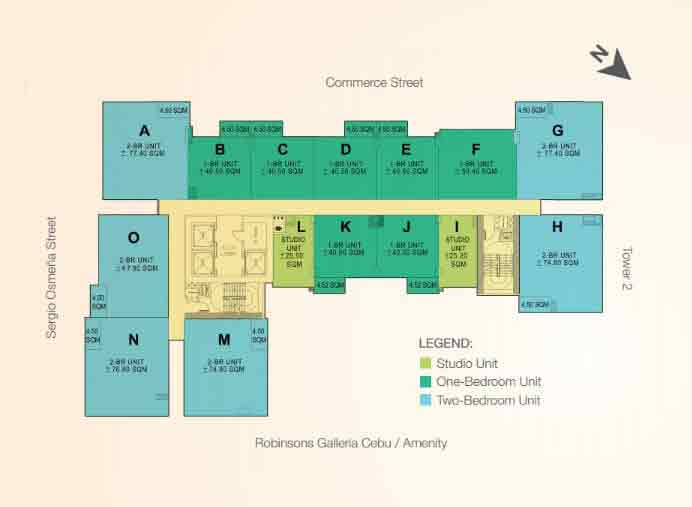 Typical Floor Plan Tower 1