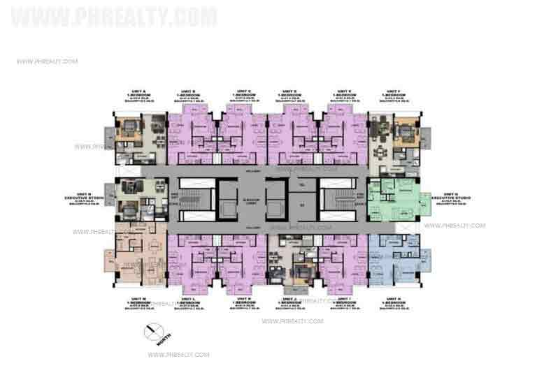 Typical 8th 10th 12th 15th and 17th Floor Plan