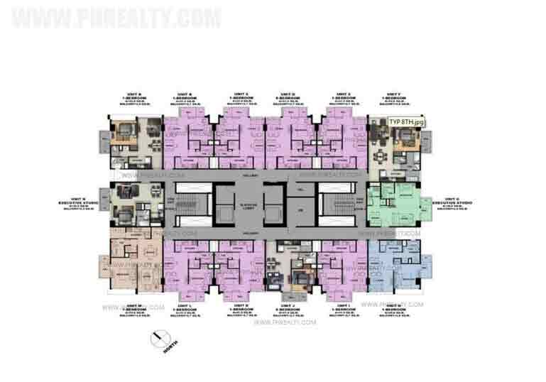 Typical 7th 9th 11th 14th and 16th Floor Plan