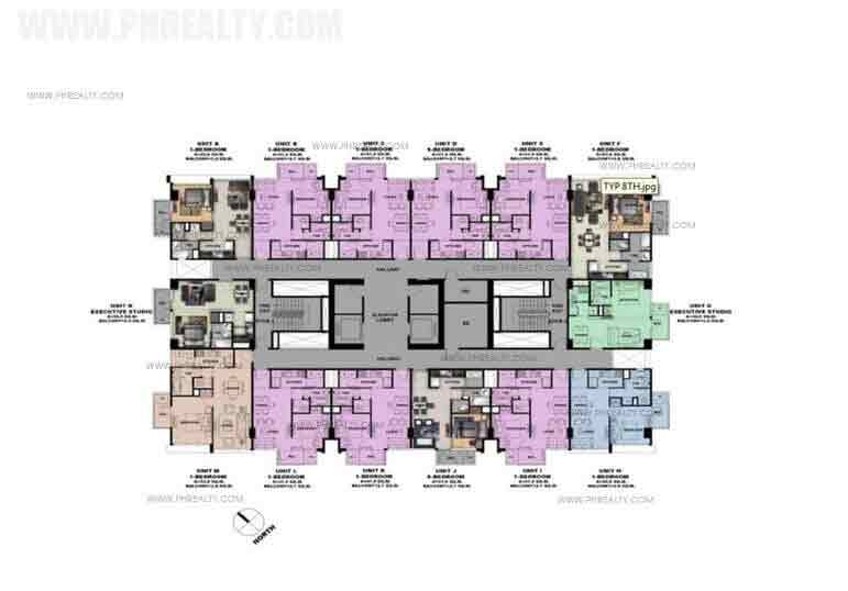 Typical 5th 7th 9th 11th 14th and 16th Floor Plan