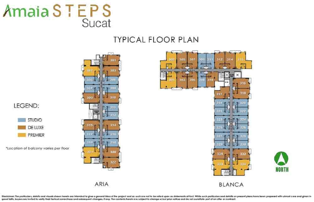 Aria and Blanca Typical Floor Plan