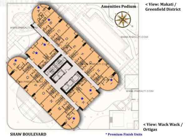 Typical Floor Plan 6th to36th Floor